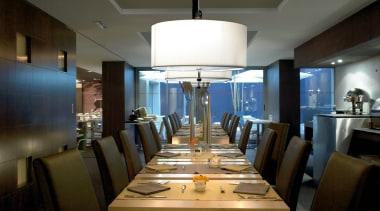 Pendant Light ceiling, dining room, interior design, restaurant, table, black, brown