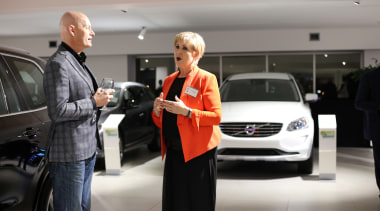Russell Dye.jpg auto show, automotive design, car, car dealership, executive car, exhibition, family car, land vehicle, luxury vehicle, mid size car, motor vehicle, sport utility vehicle, technology, vehicle, volvo cars, gray, black