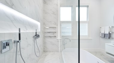 See more from Leuschke Kahn Architects architecture, bathroom, bathroom accessory, floor, home, interior design, plumbing fixture, room, tap, tile, wall, white