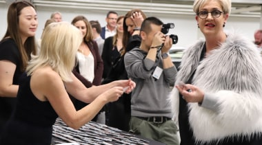 10 May 2018, at the Giltrap Group Building fashion, fur, fur clothing, socialite, black, white