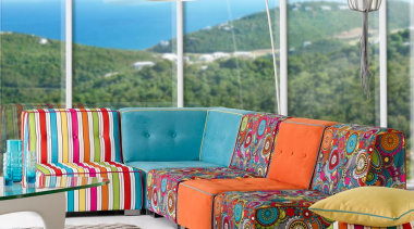 Holiday Isle collection couch, furniture, interior design, living room, window, white