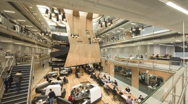 The Brian Lewis Atrium in the Melbourne School architecture, building, shopping mall, brown