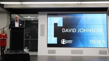 David Johnson display device, multimedia, projection screen, technology, black, gray