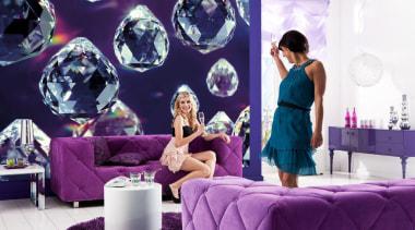 Crystals Interieur furniture, interior design, purple, room, violet, purple, white