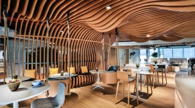 Smart Dubai ceiling, interior design, restaurant, brown, orange