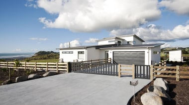 Built by Fowler Homes Taranaki in this stunning cloud, cottage, estate, home, house, property, real estate, sky, white, gray