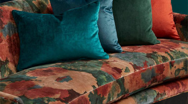 Big, bold and beautiful, ALCHEMY is the perfect bed sheet, couch, cushion, duvet cover, furniture, linens, pillow, textile, throw pillow, black, teal