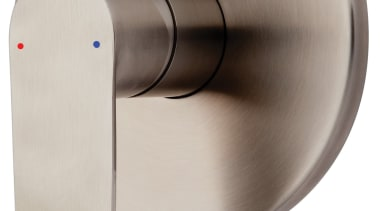 Purity Emotion Shower Mixer PUR030 hardware, product design, white