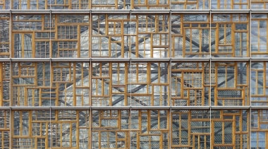 This new headquarters for the European Union Council architecture, building, facade, line, scaffolding, structure, tower block, window, wood, gray