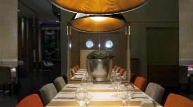 Umbrella by Grok, Spain ceiling, function hall, interior design, restaurant, table, black, white