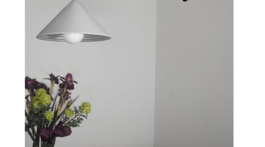Nyon by Geneva lamp, lampshade, light fixture, lighting, lighting accessory, product design, table, white, gray