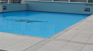 RAK Stone series outdoor tiles here in 600x900x20mm composite material, floor, flooring, leisure, leisure centre, property, recreation, sport venue, swimming pool, water, gray, teal