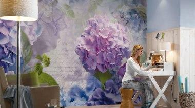 Otaksa Interieur decor, floral design, floristry, flower, flower arranging, home, interior design, living room, mural, painting, purple, room, wall, wallpaper, gray