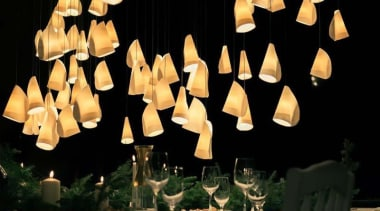 This is a low voltage chandelier; each individual chandelier, decor, lamp, lampshade, light fixture, lighting, lighting accessory, black