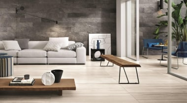 Suitable for use in private,public and retail locations,natural-look coffee table, floor, flooring, furniture, hardwood, interior design, laminate flooring, living room, product design, table, tile, wall, wood, wood flooring, gray