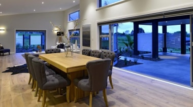 Choose from a range of engineered timber flooring dining room, estate, interior design, property, real estate, gray