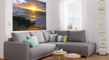 Makena Beach Interieur angle, chaise longue, couch, floor, furniture, home, interior design, living room, loveseat, sofa bed, table, wall, white