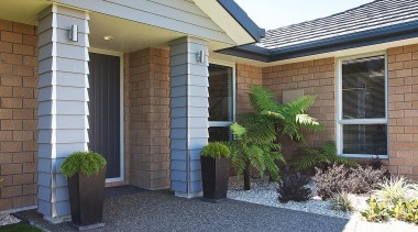 For more information, please visit www.gjgardner.co.nz backyard, courtyard, door, estate, facade, home, house, landscaping, porch, property, real estate, residential area, siding, walkway, window, yard
