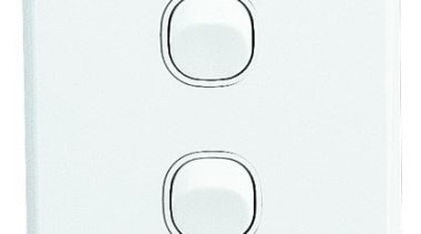 Classic C2000 Series double switch White light switch, product, white