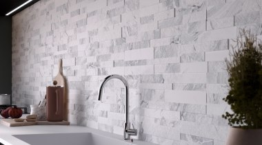 The 150x610mm tiles have with a thickness ranging ceramic, floor, flooring, interior design, tap, tile, wall, gray