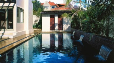 Residential arecales, estate, hacienda, home, house, leisure, palm tree, property, real estate, reflecting pool, resort, swimming pool, villa, water, black
