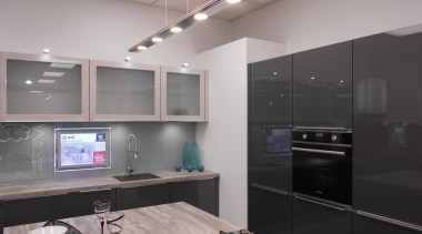 Troppo by Geneva cabinetry, countertop, interior design, kitchen, room, gray, black