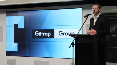 10 May 2018, at the Giltrap Group Building business, display device, electronic device, multimedia, presentation, projector, technology, television, black, gray