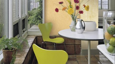 Italian Color Range architecture, chair, dining room, floor, flooring, furniture, home, house, interior design, living room, table, window, yellow