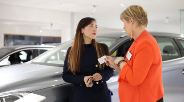 Solidtops Ltd Priscilla Yao.jpg auto show, automotive design, car, executive car, family car, luxury vehicle, mid size car, motor vehicle, personal luxury car, socialite, vehicle, white