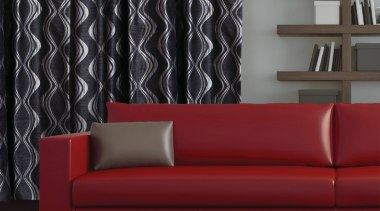 Resene Xpressions Room angle, couch, curtain, floor, furniture, interior design, living room, loveseat, sofa bed, wall, wallpaper, window covering, window treatment, black
