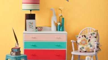 Retro Candy blue, chair, furniture, home, interior design, orange, paint, product, room, shelf, shelving, table, toy, wall, yellow, orange