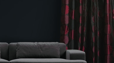 Turntable couch, curtain, furniture, interior design, light, lighting, living room, purple, textile, wall, window covering, window treatment, black