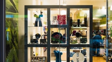 Simple display cabinets can create the biggest impact. boutique, display case, interior design, retail, white