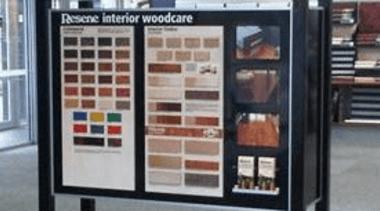 Woodstandinterior display case, product, gray