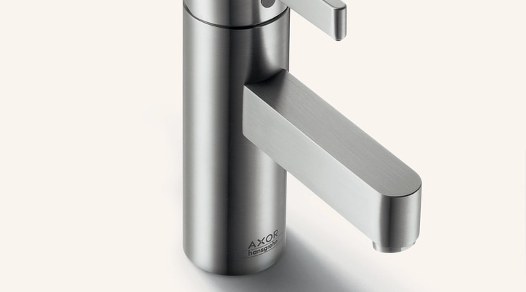 Axor Steel faucet hardware, plumbing fixture, product, product design, tap, white