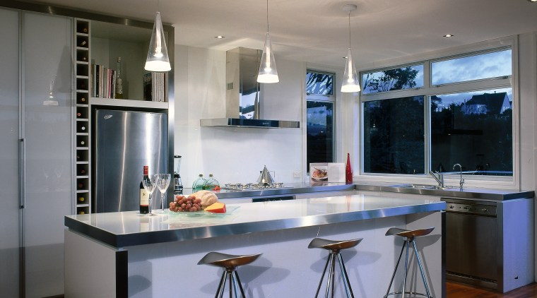 Overview of the kitchen cabinetry, ceiling, countertop, cuisine classique, interior design, kitchen, real estate, room, gray