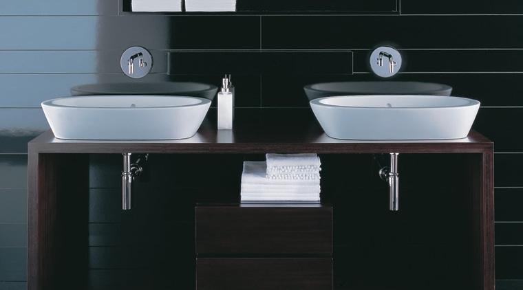 The detail of two basins bathroom, bathroom accessory, bathroom cabinet, bathroom sink, ceramic, plumbing fixture, product, product design, sink, tap, black