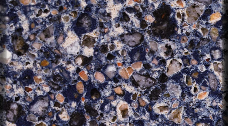 Blue Safita silestone natural quartz surface geology, granite, material, pebble, rock, blue, gray