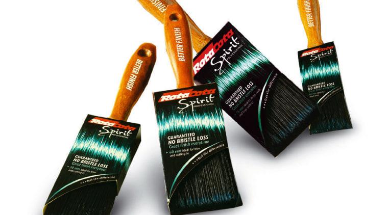 Selleys Spirit range paintbrushes. product, product design, tool, white