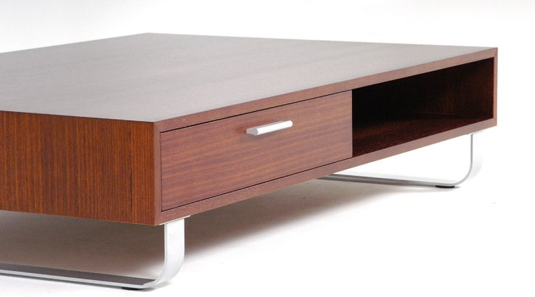 A view of Luna table in golden wenge coffee table, furniture, product design, table, white