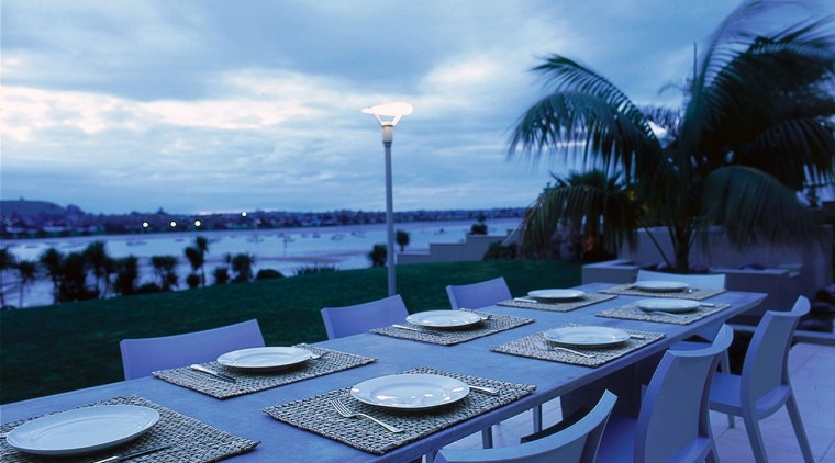 View of the outdoor dining area real estate, resort, sea, sky, vacation, water, teal, blue