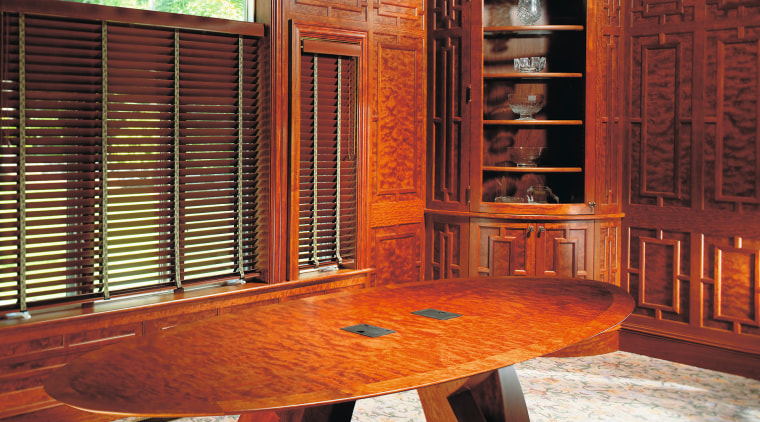 View of the woodwork by woodmeister corporation antique, cabinetry, chair, furniture, interior design, table, wood, wood stain, red