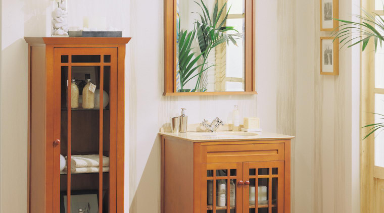 View of the vanity unit within this bathroom bookcase, cabinetry, chest of drawers, display case, drawer, furniture, hardwood, interior design, product, shelf, shelving, table, white