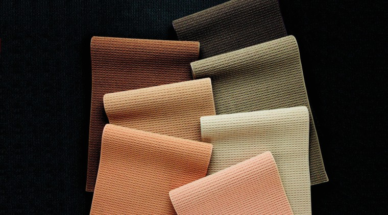 A photograph of Cavalier Bremworth's Ridgeway range of material, product, product design, black