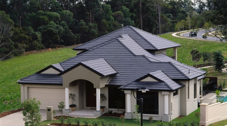 exterior view of house and roofing architecture, cottage, elevation, estate, facade, home, house, property, real estate, residential area, roof, suburb, white, black