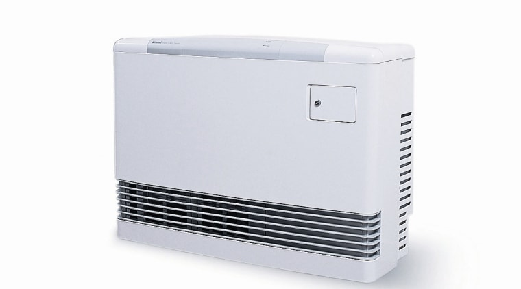 White Rinnai Energy Saver Power Flue gas heater. product, product design, technology, white