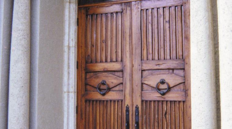entrance doors timbr arch, door, facade, structure, window, gray