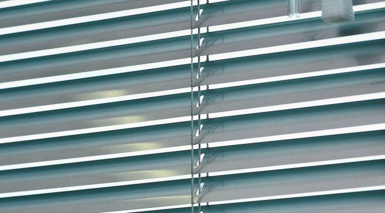 view of the uniline slimline venetian blinds architecture, daylighting, facade, line, mesh, metal, steel, window, window blind, window covering, gray, teal