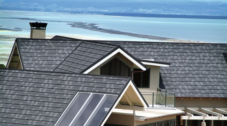 AHI Roofing's experienced master roofers undertook the installation daylighting, home, house, outdoor structure, real estate, residential area, roof, siding, window, gray, teal