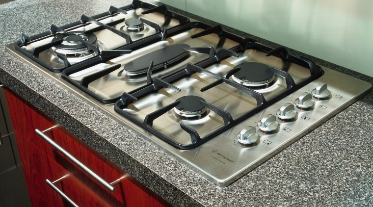 view of the westinghouse gas hob countertop, gas stove, kitchen, kitchen stove, gray